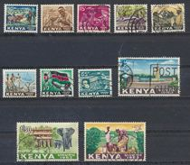 °°° LOT KENYA - Y&T N°1/11 - 1963 °°° - Kenya (1963-...)