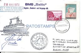 74875 ARGENTINA ANTARTIDA ANTARCTICA SHIP COVER YEAR 1972 CIRCULATED TO BUENOS AIRES  NO POSTAL POSTCARD - Argentinien