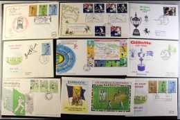 SPORT - CRICKET COVERS 1960's To 2000's Very Fine Hoard Of GB And Commonwealth Illustrated Covers Featuring... - Stamps