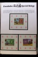 RAILWAYS 1980's-1990's 'Eisenbahn Special Belege' World Collection In Three Special Hingeless Albums With Many... - Stamps