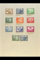 MUSIC 1920's-1940's Old World Mint & Used Collection On Leaves, Inc Germany 1933 Wagner Sets Both Mint &... - Stamps