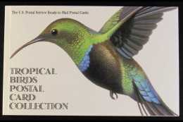 BIRDS United States 1997 USPS Complete Book Of TROPICAL BIRDS Ready To Mail 20c Postcards, In Pristine Condition.... - Stamps