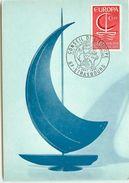 CARTE MAXIMUM CONSEIL DE L'EUROPE  TIMBRE EUROPA 0.60  1966 - Cartes-Maximum