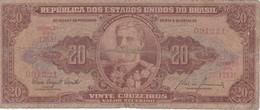 BILLETE DE BRASIL DE 20 CRUZEIROS AÑOS 1955-1961  (BANK NOTE) - Brasil