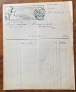 PARIS  1919  VAPORISATEUR DES FEES  15 PARFUMS DIFFERENTS    ANTICA FATTURA  ORIGINALE D'EPOCA - Francia