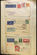 WONDERFUL OLD-TIME COVERS COLLECTION 1897 Through To About 1951 (mostly 1920's/30's/40's), Housed In Two Makeshift... - Stamps