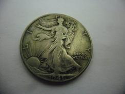 USA LIBERTY WALKING Half Dollar 1941 Argent Silver 1/2 $ Liberté Marchant Et Aigle @ KM 14 - EDICIONES FEDERALES
