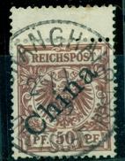Deutsche Post In China. China Auf Krone/Adler, Nr. 6 I Gestempelt - Deutsche Post In China