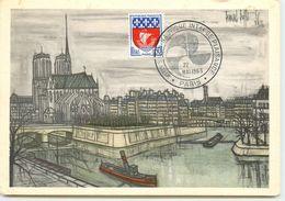 CARTE MAXIMUM SALON NAUTIQUE TABLEAU DE BUFFET PARIS 1965 - Cartes-Maximum