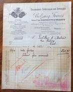 PARIS  1920 FABRIQUE DE STORES BELZACQ FRERES     ANTICA FATTURA  ORIGINALE D'EPOCA - Francia