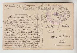 CPA BAYEUX (Calvados) OBLITERATION 29/06/1915 EN F.M GUERRE 1914/18 - Cachet Adm. Militaire Hôp. Auxuliaire BAYEUX - WW I