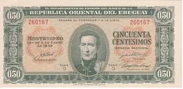 BILLETE DE URUGUAY DE 50 CENTESIMOS DEL AÑO 1939  (BANKNOTE) SIN CIRCULAR-UNCIRCULATED - Uruguay