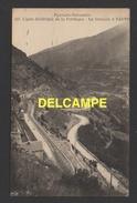 DD / TRANSPORTS / CHEMINS DE FER / LIGNE ELECTRIQUE DE LA CERDAGNE / LE TRAIN JAUNE AU LIMAÇON À SAUTO (66) - Treni