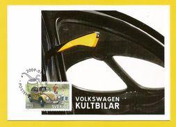 Schweden 2009  Volkswagen - Kultbilar - Maximikort - Posten Stockholm  2009-01-29 - Cartes-maximum (CM)
