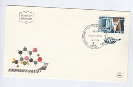1968 ISRAEL FDC Stamps ISOTOPE Chemistry AIRCRAFT  Cover Aviation - Chemistry