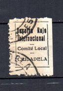 Viñeta  Socorro Rojo Internacional Ciudadela. - Viñetas De La Guerra Civil