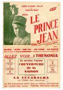PROGRAMME CINEMA & DATES DE PROGRAMMATION Cinéma Thesonia  HAYANGE  Le Prince Jean *P.RICHARD WILLM *N.PALEY  Années1930 - Programmes