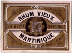 Ancienne Etiquette De Rhum Martinique - Imprimeur Wetterwald - Rhum