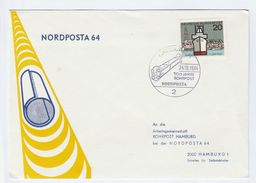 1964 Germany  ROHRPOST ANNIV EVENT COVER Pneumatic Tube Post System Stamps  Nordposta - Post