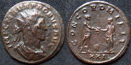Roman Empire - Silvered AE Antoninian Of Probus (276 - 282), CONCORD MILIT - 5. L'Anarchie Militaire (235 à 284)