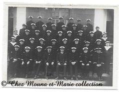 ECOLE NAVALE DES FOURRIERS - ELEVES ET OFFICIERS MARINE - PHOTO 18.5 X 13.5 CM - DOCUMENT ANCIEN - MILITAIRE - Guerre, Militaire
