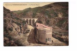 07 Le Pont De Duzon Environs De Tournon Sur Rhone , Cpa Colorisée Carte Toilée - Other Municipalities