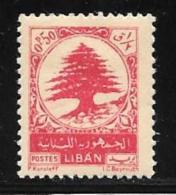 Lebanon, Scott # 234 Mint Hinged Cedar, 1950 - Lebanon