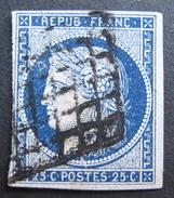 LOT R1510/54 - CERES N°4a Bleu Foncé - GRILLE NOIRE - Cote : 70,00 € - 1849-1850 Ceres