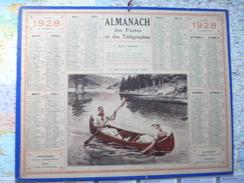 Almanach Des Postes Et Télégraphes 1928 En Canoé Sur Les Lacs Des Vosges / Département De La Loire - Formato Grande : 1921-40