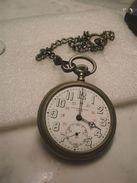 Gousset Belge En Argentan IAXA , Rubis Cassé Pour Horloger&réparateur Uniquement Années 50 - Taschenuhren
