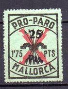 Viñeta  De Mallorca Con Sobrecarga.25 Pts Sobre 1,75pts - Viñetas De La Guerra Civil