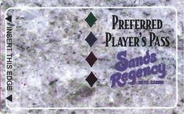 Sands Regency Casino - Reno, NV -  BLANK Slot Card - Color 1 - Casino Cards