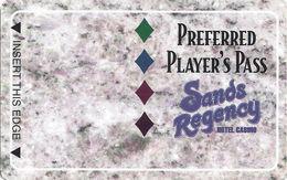 Sands Regency Casino - Reno, NV -  BLANK Slot Card - Color 2 - Casino Cards