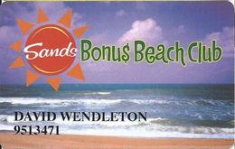 Sands Regency Casino - Reno, NV -  Slot Card - Purple Sky - Casino Cards