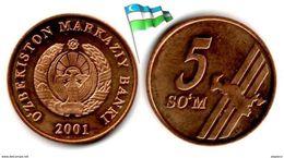 Ouzbékistan  - 5 Sum 2001 (UNC) - Uzbekistan