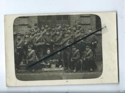 """Carte Photo : à Identifier : 5e Compagnie-2e Section Aux Gréves De Lens """"Honneur De La Division De Fer""""Militaire, Soldat - Lens"""