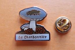 Pin's, Champignons, Le Charbonnier - Badges