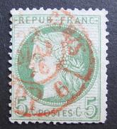 LOT R1510/72 - CERES N°53 - CàD ROUGE DES IMPRIMES - PARIS PP6 Du 22 MAI 1876 - 1871-1875 Cérès