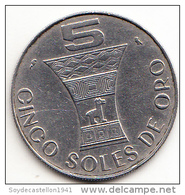 PERÚ 1969   5  SOLES DE ORO. CULTURA INCA.SIMBOLOS .CN4283 - Pérou