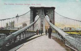 New York - Old Post Card - The Cables Brooklyn Bridge - 2 Scan - Ponts & Tunnels