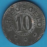 ZELL IM WIESENTAL 10 Pfennig ND KRIEGSGELD Funck# 623.2 - Monetari/ Di Necessità