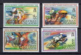 CAYMAN ISLANDS 1992 - BARCELONA OLYMPICS 92 - YVERT Nº 695-698 - MICHEL 667-670 - SCOTT 653-656 - CYCLING - Verano 1992: Barcelona