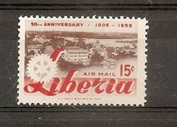 LIBERIA VARIETE PA  N 96  ** -  1 TIMBRE AVEC COULEUR JAUNE  ABSENTE - TIMBRE NORMAL NON FOURNI - JUSTE COMPARAISON - Liberia