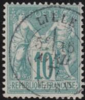 France   .    Yvert  .      65            .      O   .     Oblitéré - 1876-1878 Sage (Type I)