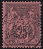 France   .    Yvert  .      91          .      O   .     Oblitéré - 1876-1898 Sage (Type II)