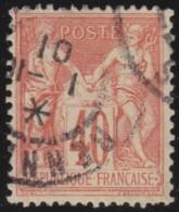 France   .    Yvert  .      94        .      O   .     Oblitéré - 1876-1898 Sage (Tipo II)