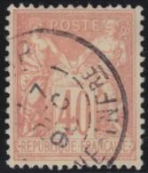 France   .    Yvert  .      94        .      O   .     Oblitéré - 1876-1898 Sage (Type II)