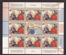 Serbia 2017  180 Years Diplomatic Relations With Great Britain, George Lloyd Hodges, Mini Sheet MNH - Serbia
