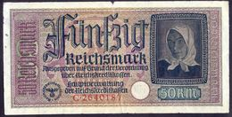 Germany Lithuania Latvia Estonia - 50 Reichsmark 1941 - 1945 VF   # P- R140 - [ 9] Occupied German Territories
