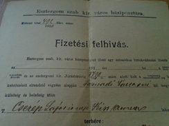 D151820 Hungary Esztergom  250 Kr  Tax  1920 -demande De Paiement  Taxe - Rechnungen